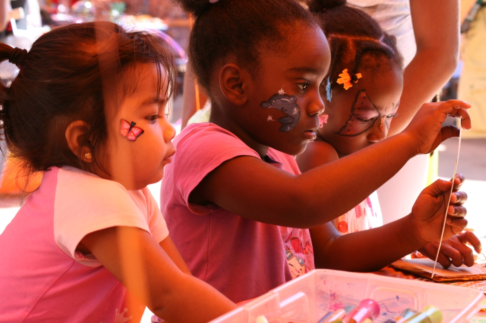 Painted Faces in the Kids Corner