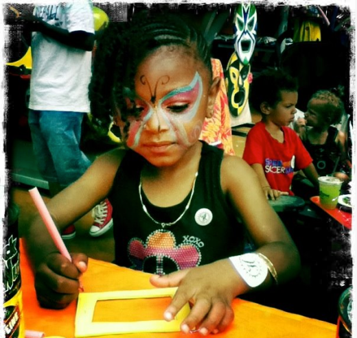 Back to school party- habana Outpost-girl face painting
