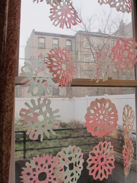 Colorful Coffee Filter Snowflakes