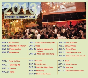 Habana Outpost Movie Night Calendar