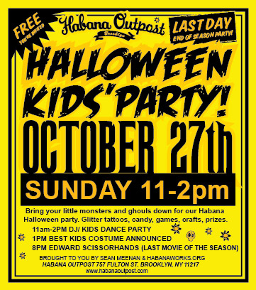 Halloween Party / Last Day of the Season at Habana Outpost!